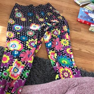 very colorful justice pajama bottoms (never worn)